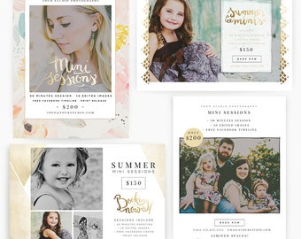 Gold Summer 5x7 WHCC Marketing Templates