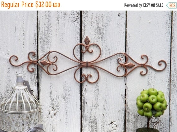 On Sale COPPER Wall Decor / Wrought Iron / Ornate By