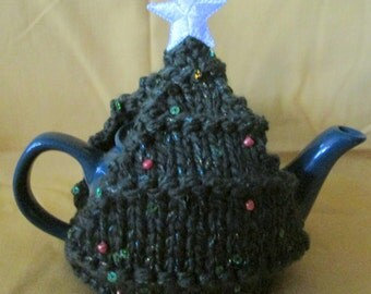 Christmas Tree Cozy and 2-cup Teapot #2