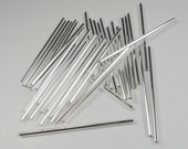 Extra long 60mm clear silver lined glass bugle beads