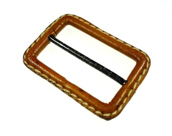 Belt buckles light brown leather 1pc