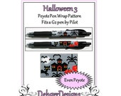 Bead Pattern Peyote(Pen Wrap/Cover)-Halloween (3)