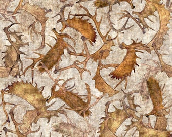 Quilting Treasures Woodland Spirit Antlers Free Shipping 1/2 Yard Cotton Fabric 24365 -K
