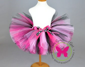 Girl's Pink and Black Tutu...Fashion Doll Theme Party Tutu...Newborn, Toddler, Girls, Adult Women . . . PARTY PRINCESS