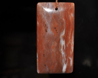 Listed @ 15% Off Was 17.99---27x53x7mm ~New Discovery~Australian Brecciated Brown PINK OPAL X-Large Rectangle Focal Pendant - J1015