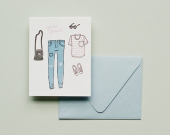You're Classic - Letterpress Card