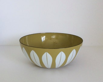 "Vintage Mid-Century 8"" Catherineholm of Norway Enamelware Bowl Arne Clausen Lotus Design"
