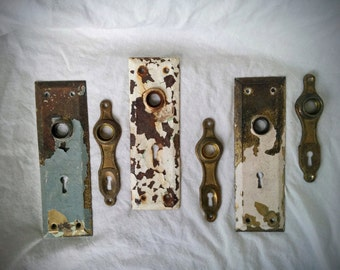 Escutcheon plates - set of 6