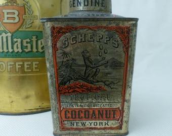 Antique Schepps Coconut Tin