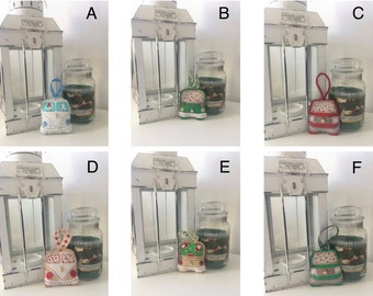 Special Offer 3 for Sparkly Campervan Christmas Decorations