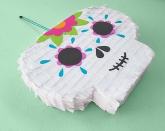 Sugar Skull Piñata / Calavera Piñata / Halloween Piñata / Mexican Piñata / Dia De Los Muertos / Day Of The Dead Piñata