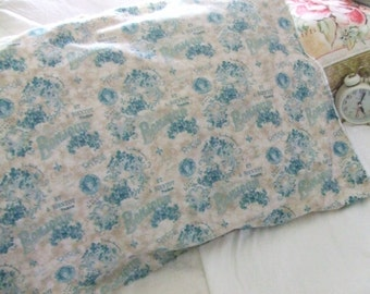 Shabby chic pillowcase - French fabric - home furnishings - Pillow Cover