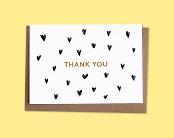 THANK YOU Greetings card + recycled envelope