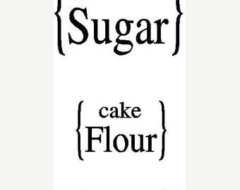 ON SALE Vinyl Kitchen container labels...sugar flour..