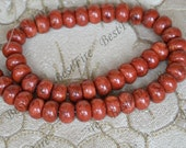 Charm 8x12mm Red Sponge coral Abacus beads,Coral Beads Coral nugget Beads Full One Strand 15inch