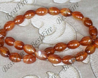 Single 10x14mm rice red agate beads loose strands,loose bead,rice agate gemstone bead, agate stone bead 15inch