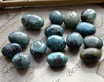 6 beads High quality 15x20-18x20mm Natural old Turquoise nugget loose beads,turquoise nugget gemstone beads,turquoise nugget beads