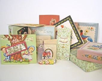 Vintage Greeting Card Collection. 113 Unused Cards in Original Boxes 1950 1960s