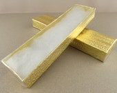 """Clear View Gold Jewelry Gift Box, 8"""" x 2"""" x 1"""", set of 25"""
