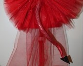 Bustle Bow Devil Costume Steampunk Halloween Tulle Tail