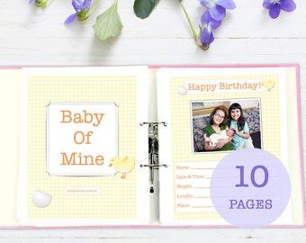Simple Pregnancy Journal, printable