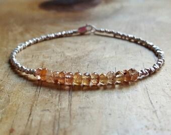 November Birthstone Bracelet Topaz Bracelet Imperial Topaz Bracelets Beaded Bracelets Topaz Bead Bracelet Womens Gift for Women Girlfriend