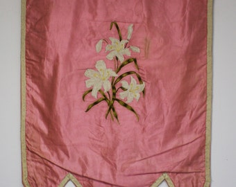 Antique Embroidered Odd Fellow Banner