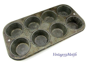 Muffin Tin ECHO Ovenex 1940 8 cup