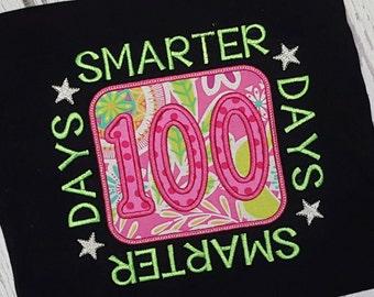 100 Days of School Shirt 100 Days Smarter Shirt Ships TODAY