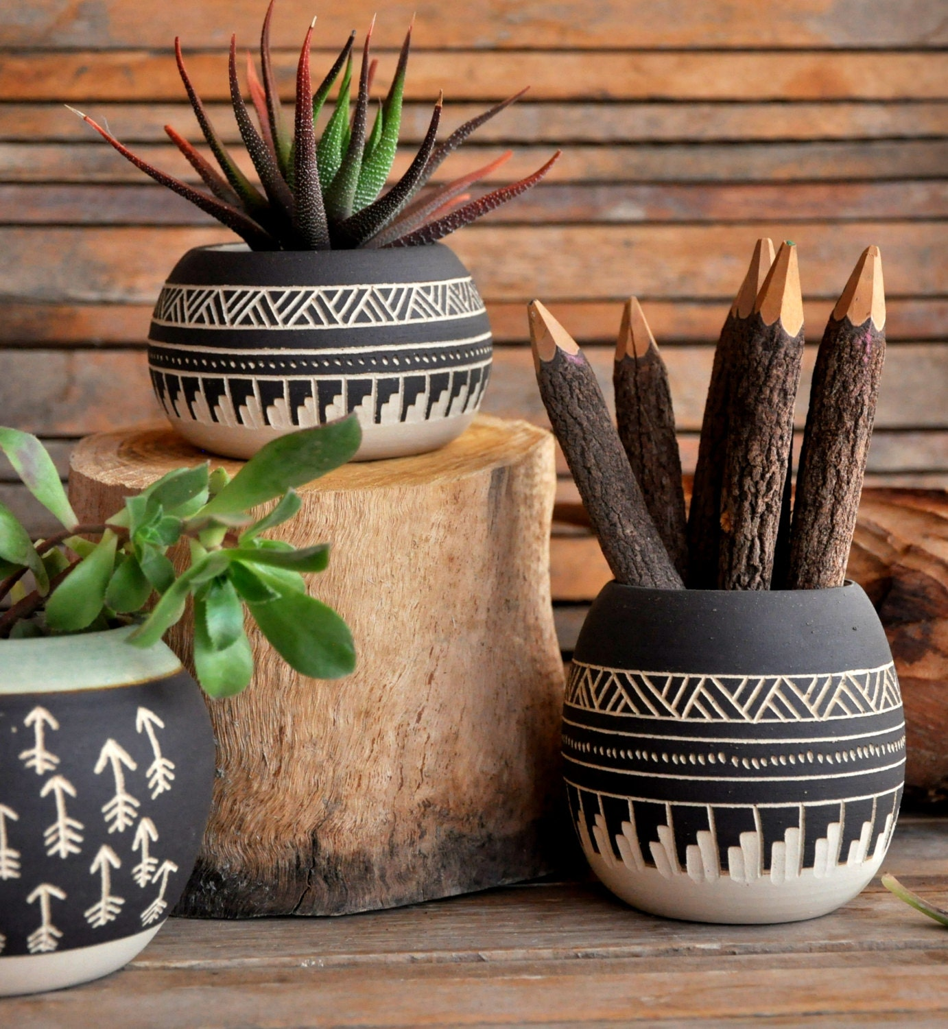made to order ceramic planter pottery navajo inspiration. Black Bedroom Furniture Sets. Home Design Ideas
