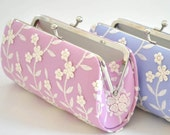 Pink Orchid - Small Lacely Clutch - Wedding clutch- PETITE cocktail clutch - Shabby chic