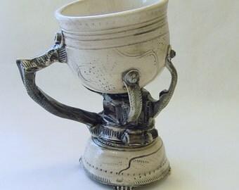 Loose Threads Mug with Hose Clamp