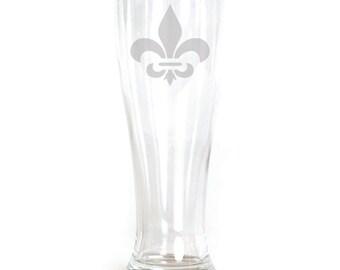 Pilsner Glass - 19oz - 9548 Fleur De Lis