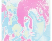 "Paul McCartney portrait by Richard Avedon  - 13""x19"" or 24""x36"" - The Beatles Paul McCartney - 60's pop art Psychedelic Poster art"