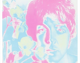 "Paul McCartney portrait by Richard Avedon  - 13""x19"" or 24""x36"" - The Beatles Paul McCartney - 60's pop art Psychedelic Poster art"