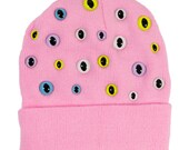 Pastel Kitty Eye Beanie