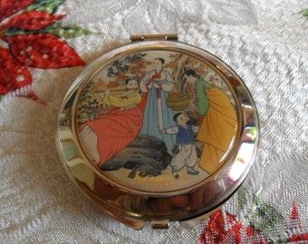 Vintage Asian Mirror Compact