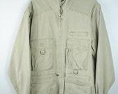 50% OFF Vintage 90s Stone Wash Canvas HUNTER Jacket / VEST.