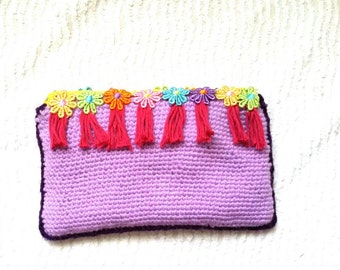 Crochet purse/wallet/pencil or tool case / gift for girls / spring/summer/ready to ship / Free shipping for European Union and United States