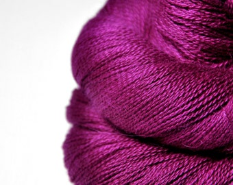 Electric light purple - BabyAlpaca/Silk Lace Yarn