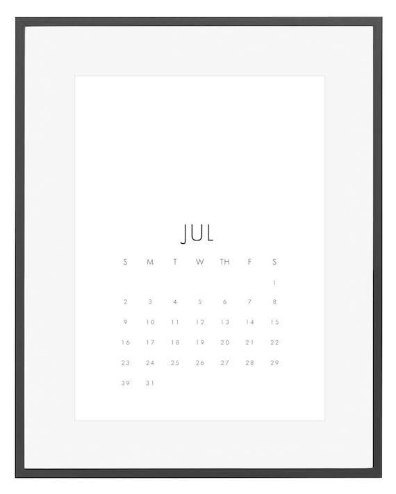 Minimalist Calendar 2016 : Printable calendar minimalist wall