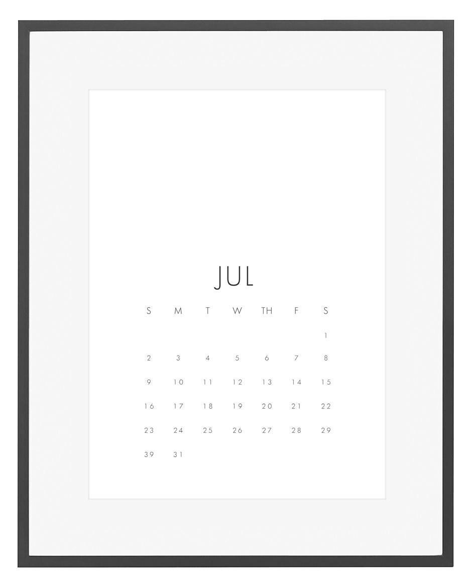 Minimalist Calendar Printable : Printable calendar minimalist wall