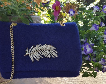Hand Knit and Felted Purse - #A1