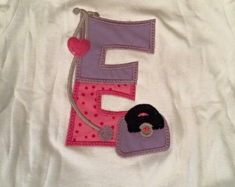 Doc McStuffins Applique Initial Shirt