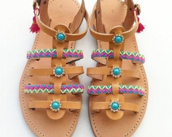 Boho sandals, Gladiator sandals, leather sandals, bohemian sandals