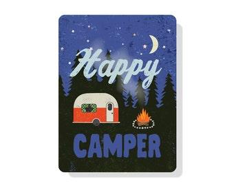 "Happy Camper 9"" X 12"" Aluminum Outdoor Sign"