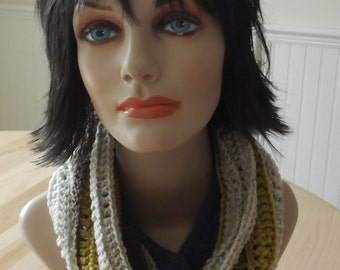 Infinity Scarf Crochet Infinity Scarf Infinity Loop Scarf Cold Weather Accessory Wool Scarf Multi Color Scarf