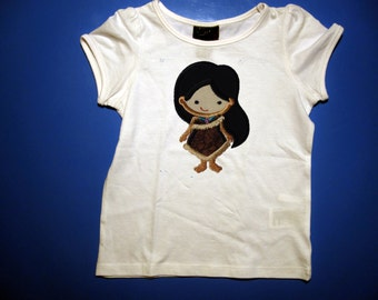 Baby one piece & Toddler tshirt - Embroidery and appliqued Princess