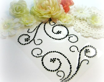 Black Self Adhesive Rhinestone Swirls For Scrapbooking Mini Albums Scrapbook Minis Tags Paper Crafts Cards and DIY