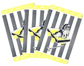 ROAD TRIP READY (3) Vintage Single Swap Playing Cards Paper Ephemera Scrapbook